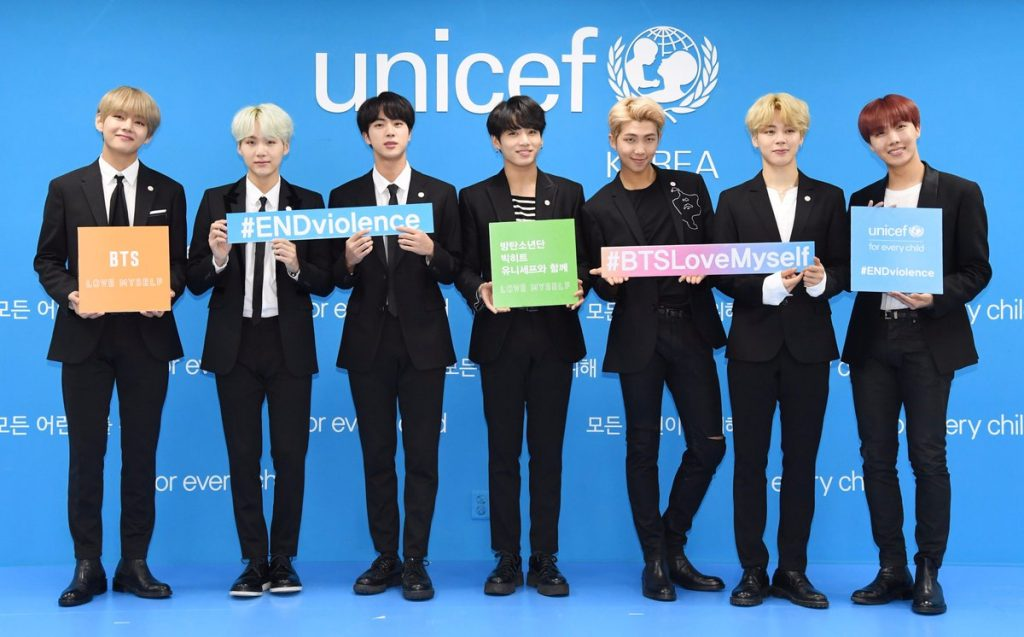 unicef thanks bts army $1 million anti-malnutrition campaign
