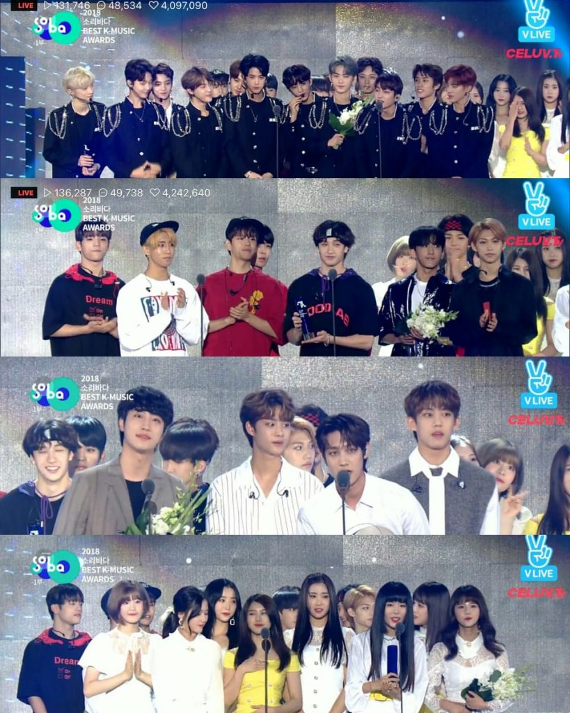 2018 soribada winners rookie of the year stray kids the boys nature iz