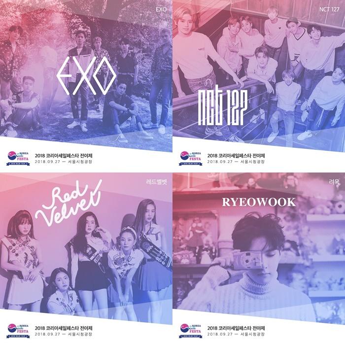 2018 korea sale festa exo red velvet nct 127 super junior ryeowook