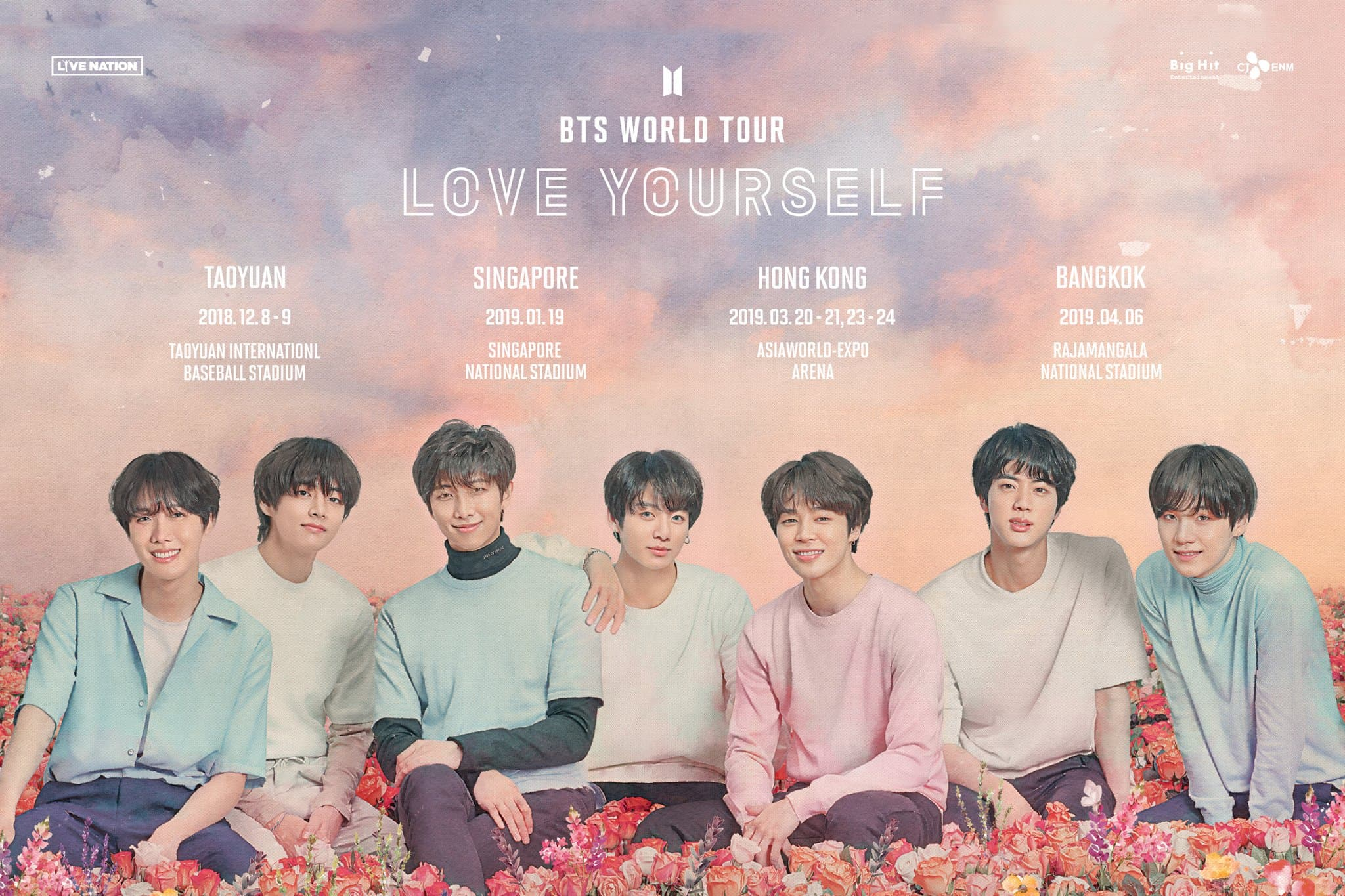 bts love yourself world tour taiwan singapore hong kong bangkok