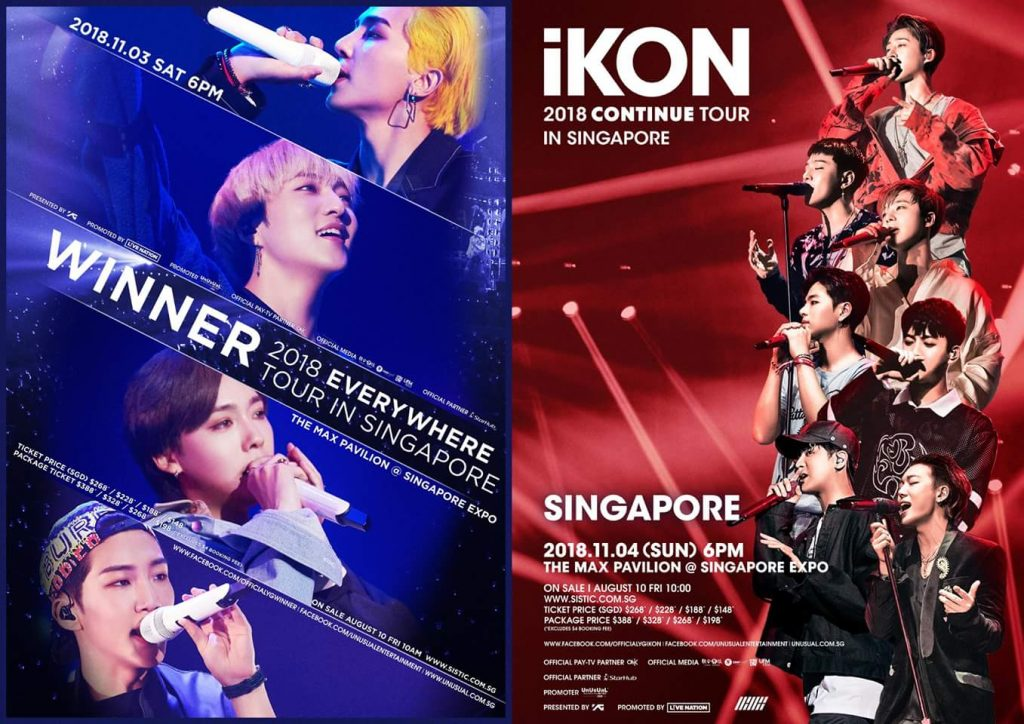 WINNER and iKON in SG
